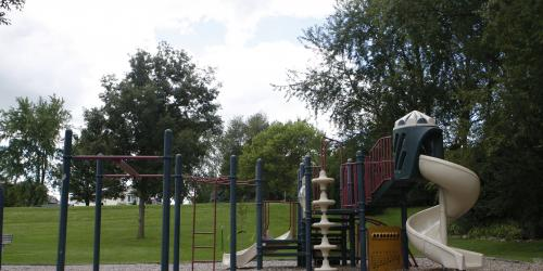 A photo of the current playground equipment at Scott Park.