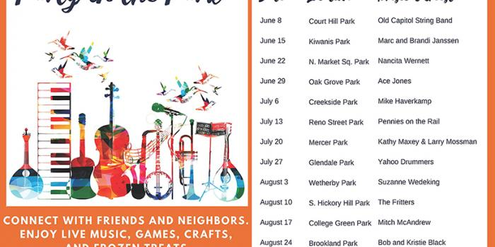 2017 Party in the Park schedule