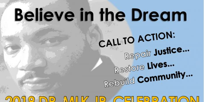 A flyer promoting Martin Luther King Jr. activities in Iowa City.