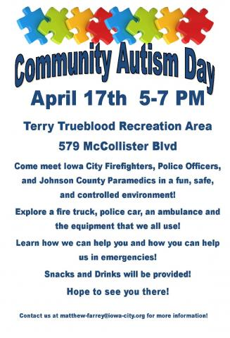 2017 Community Autism Day flyer