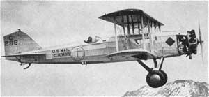 The first Boeing Air Transport B-40 airmail plane.