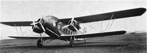 The first Boeing Air Transport B-80 air mail plane.