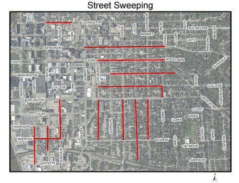 2017 Street Sweeping Map