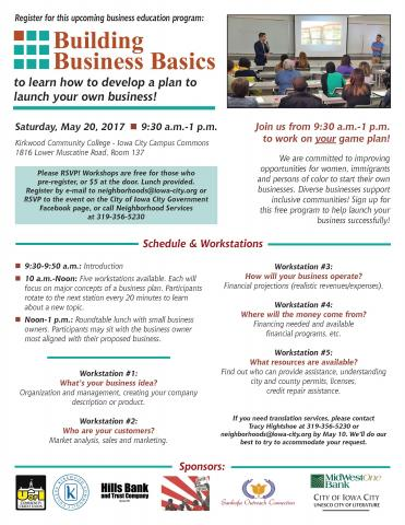 Building Business Basics Flyer 2017