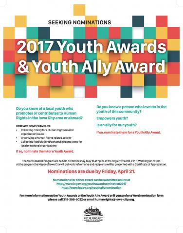 2017 Youth Awards flyer