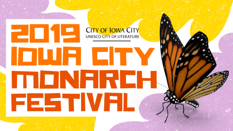 Design with a butterfly on it for Monarch Festival.