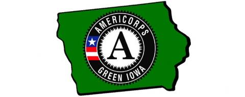 Green Iowa AmeriCorps logo.