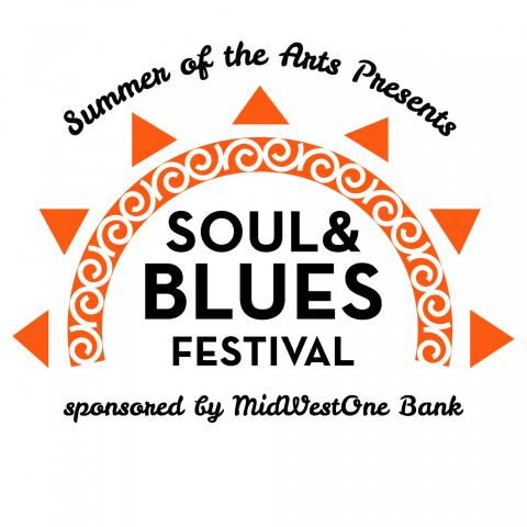Logo for the Soul and Blues Festival.