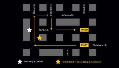 2021 Homecoming Parade route