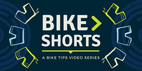 A graphic of the Bike Shorts video series