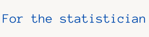 For the statistician section header