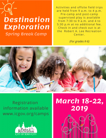 2019 Destination Exploration Spring Break Camp