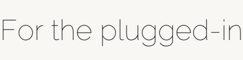 For the plugged-in section header