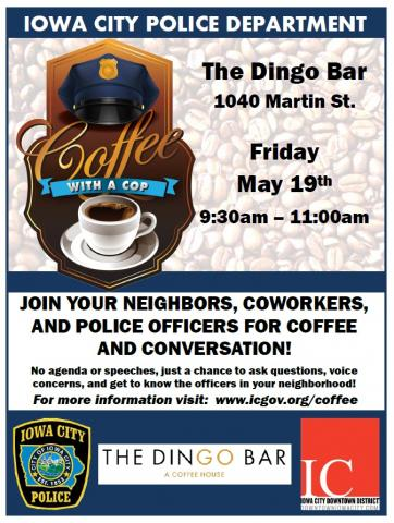 Coffee with a Cop Friday, May 19, 2017