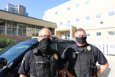 Officer Colin Fowler and Sgt. Andrew McKnight