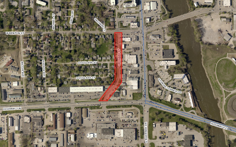 Orchard Street Reconstruction map