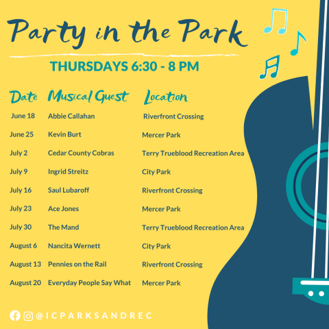 Party in the Park Schedule 2020