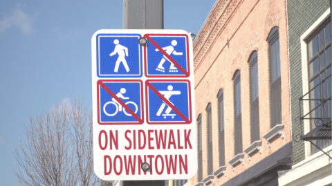 Sign in downtown