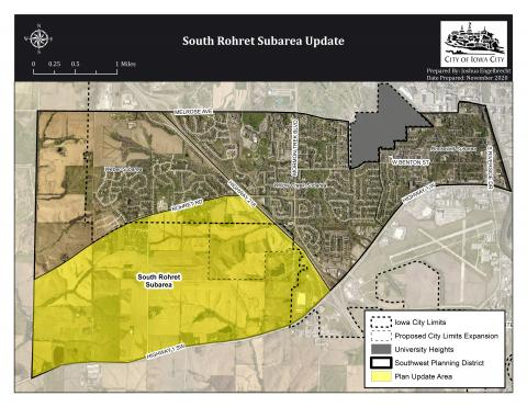 Southwest District Plan Update Map