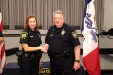 Lieutenant Denise Brotherton and Police Chief Sam Hargadine