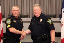 Sergeant Kevin Bailey and Police Chief Sam Hargadine