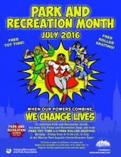 National Park and Recreation Month- July 2016