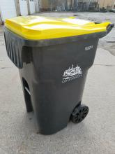 95-gallon organics cart for curbside food scraps and yard waste collection