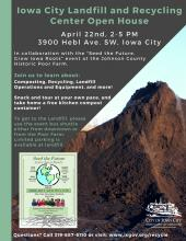 Landfill Open House Event Poster