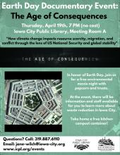 Earth Day Documentary Event Poster