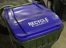 curbside recycling cart