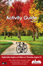 Cover of the Iowa City Parks and Recreation fall activity guide.