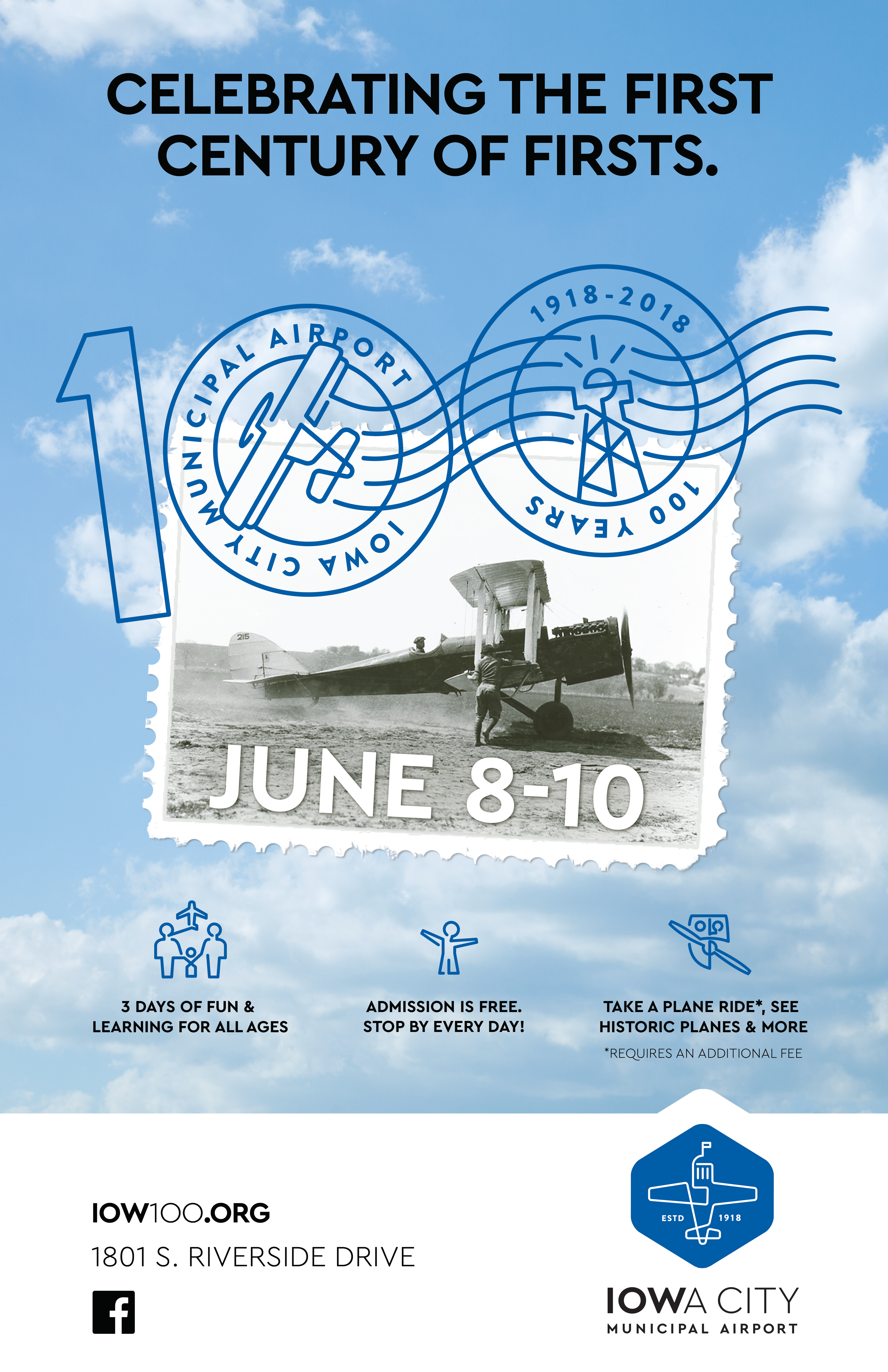 A poster promoting the airport anniversary