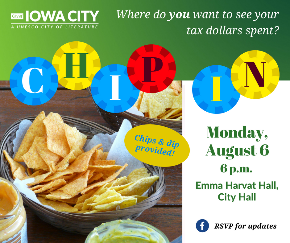 Chip In promotional graphic