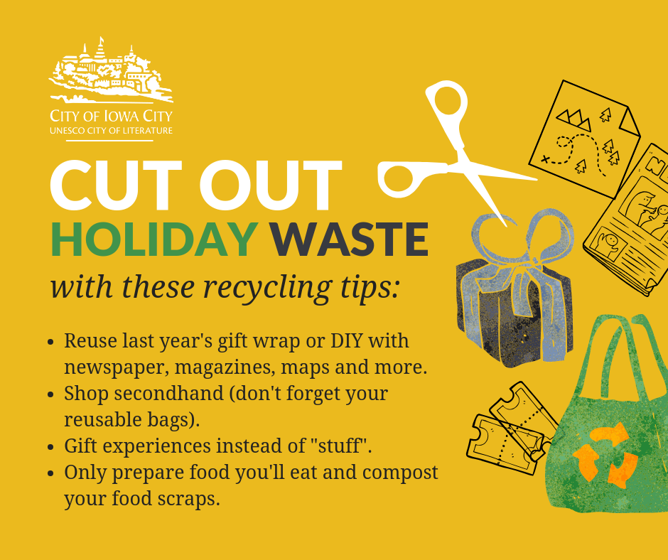 cut out holiday waste graphic