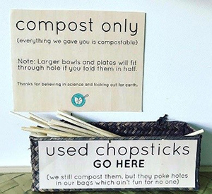 Dumpling Darling compost only sign
