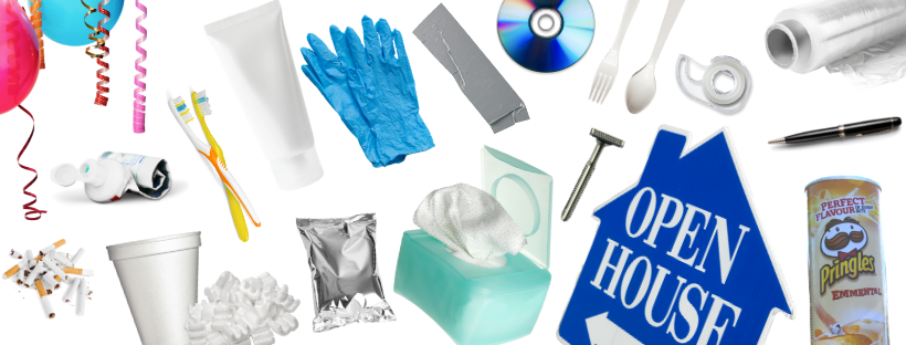 items that are garbage such as Styrofoam