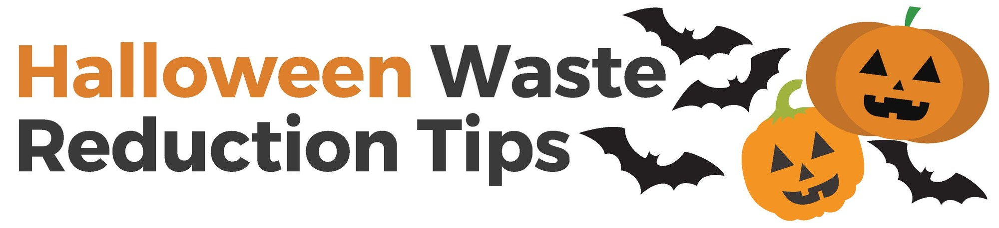 A graphic that says Halloween Waste Reduction Tips and shows Jack O'Lanterns.