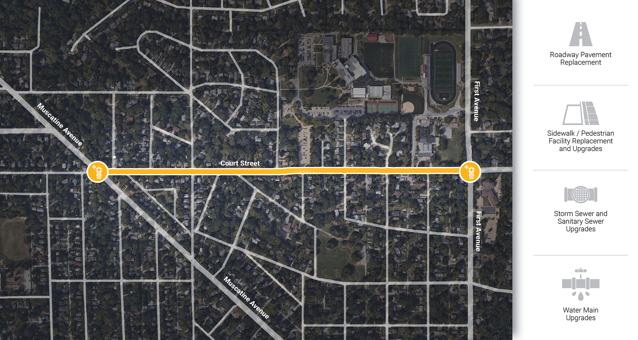 Court Street Reconstruction project map