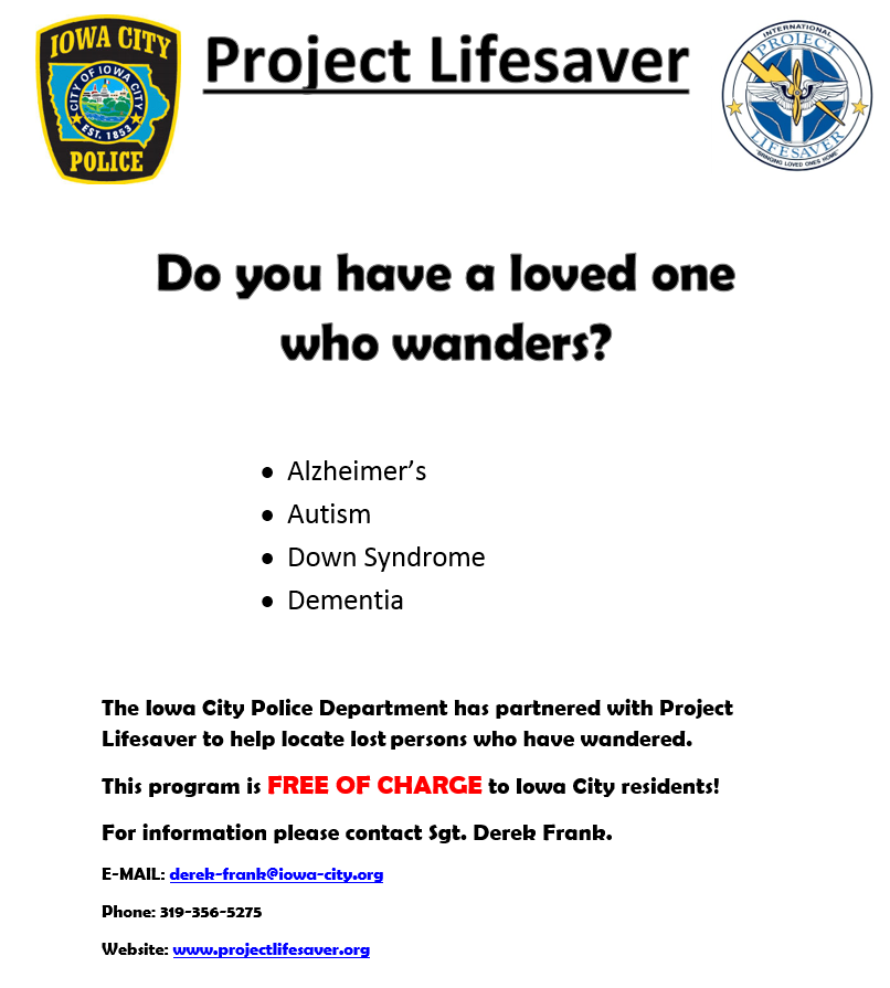 Project Lifesaver Flyer
