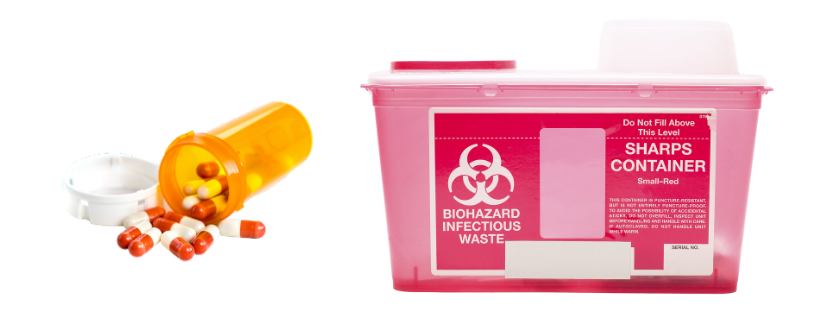 medicine and an accepted sharps container type