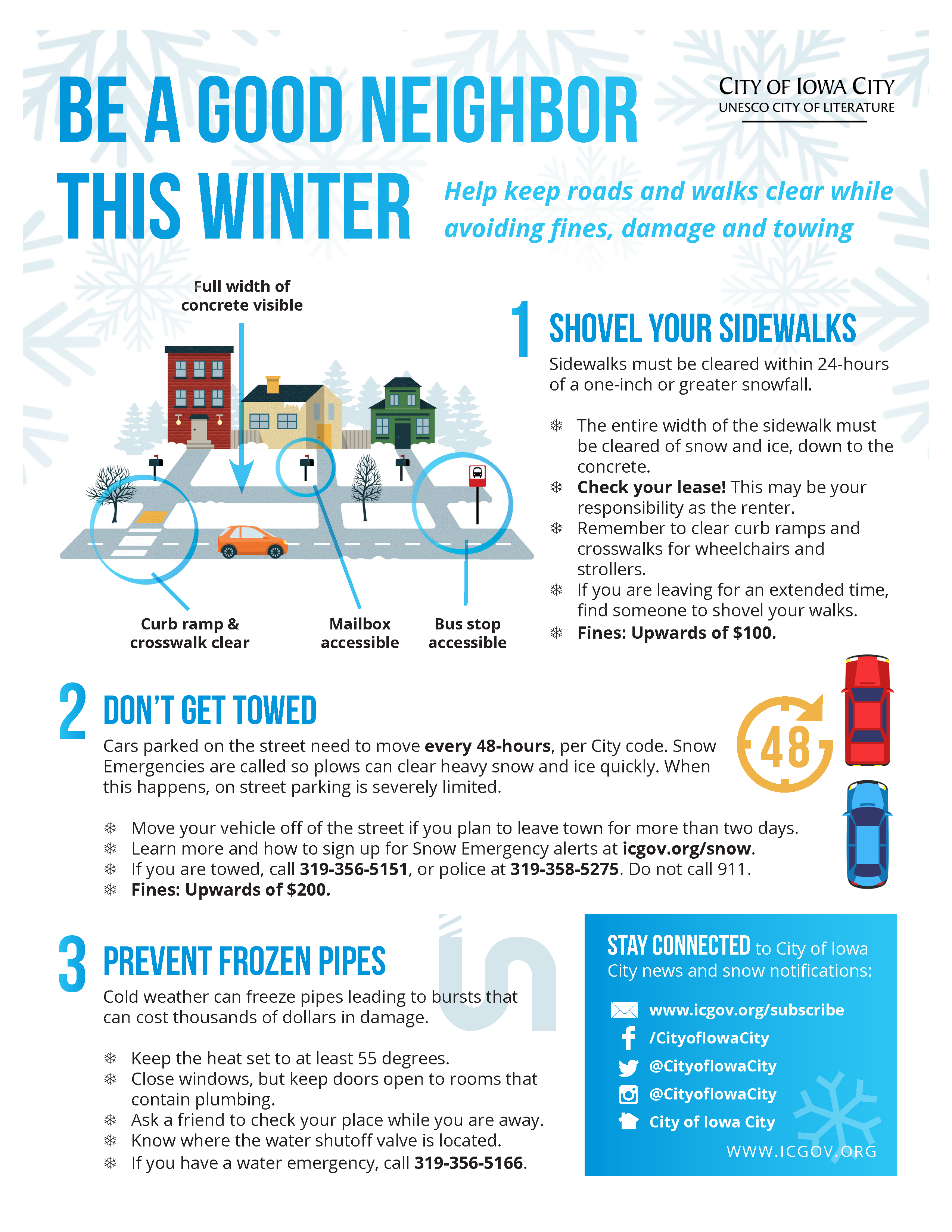 Snow Removal reminder flyer