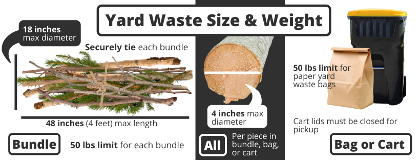 yard waste size and weight requirements